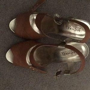 Cognac MK dressy sandals!